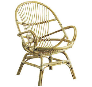Aubry-Gaspard - fauteuil coquille en manau 67x65x89cm - Fauteuil De Jardin