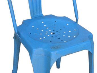 Antic Line Creations - chaise vintage en m�tal - Chaise