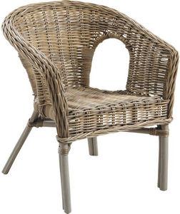 Aubry-Gaspard - fauteuil veranda en poelet gris - Fauteuil De Jardin