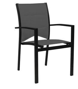 WILSA GARDEN - fauteuil de jardin modulo gris en aluminium et tex - Fauteuil De Jardin