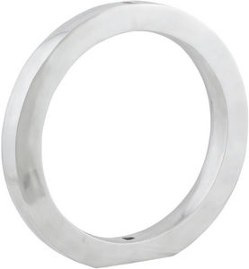 KOKOON DESIGN - vase design rondo en aluminium poli 41x4x41cm - Soliflore