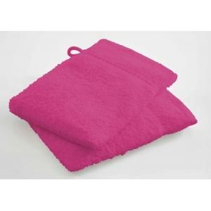TODAY - lot de 2 gants de toilette - couleur - rose - Serviette De Toilette