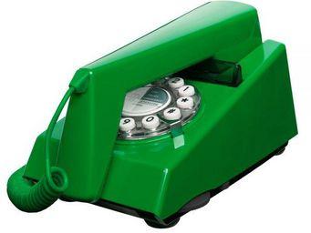 WHITE LABEL - téléphone trim vert émeraude - Téléphone Décoratif