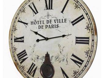 L'HERITIER DU TEMPS - horloge bois paris ø 58cm - Horloge Murale