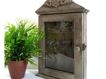 L'HERITIER DU TEMPS - boite à clefs en bois vitrée - Armoire À Clefs