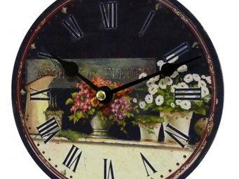 L'HERITIER DU TEMPS - pendule miniature arche aux fleurs 16,5cm - Horloge Murale