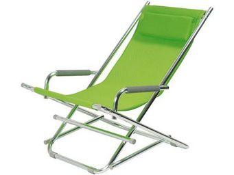 La Chaise Longue - chaise longue alu vert - Transat