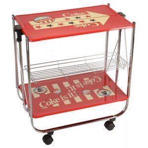 La Chaise Longue - table pliante a roulettes coca americana - Table D'appoint
