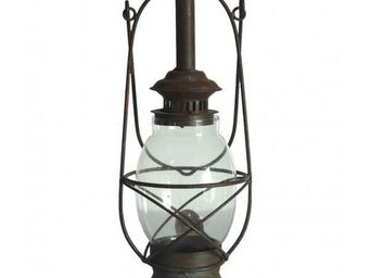 L'HERITIER DU TEMPS - lanterne ancienne fer sable 50cm - Lanterne D'extérieur