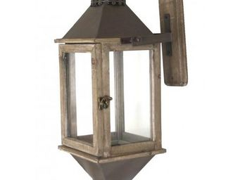 L'HERITIER DU TEMPS - lanterne style ancien bois 54cm - Lanterne D'extérieur