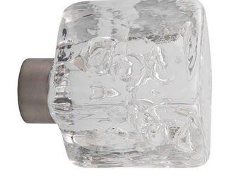 Les Verreries De Brehat - cube tubes de bulles - Bouton De Porte