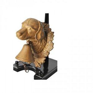 Demeure et Jardin - cloche chien en fonte - Sculpture Animalière