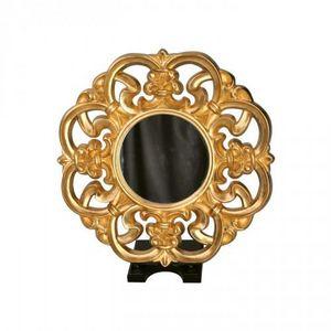 Demeure et Jardin - miroir baroque italien rond - Miroir
