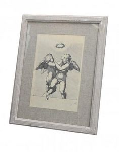 Demeure et Jardin - gravure angelot - Gravure