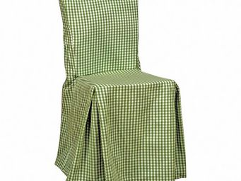 Interior's - housse de chaise vichy vert - Housse De Chaise