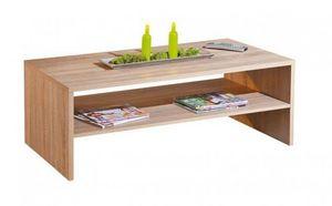 WHITE LABEL - table basse absoluto en bois chene - Table Basse Rectangulaire