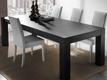 WHITE LABEL - table repas extensible contemporaneo wengé - Table De Repas Rectangulaire