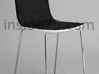 WHITE LABEL - tabouret chaise de bar design high seat noire - Chaise