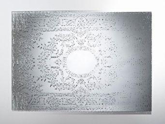 WHITE LABEL - mandala miroir mural design en verre - Miroir