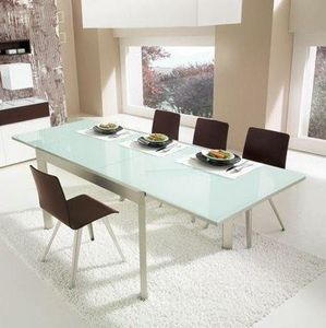 Calligaris - table repas extensible elasto 130x90 de calligaris - Table De Repas Rectangulaire