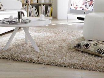 WHITE LABEL - feeling tapis épais crème 120x180 cm - Tapis Contemporain