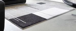 WHITE LABEL - samoa design tapis patchwork gris 240x300 cm - Tapis Contemporain