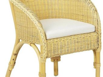 Aubry-Gaspard - fauteuil moelle rotin - Fauteuil De Jardin
