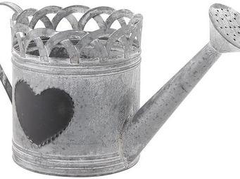 Aubry-Gaspard - arrosoir d�co coeur en zinc 39x16x18cm - Arrosoir
