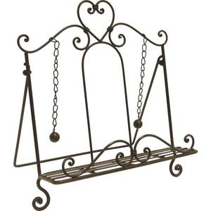 Aubry-Gaspard - lutrin cour en métal laqué rouille - Lutrin