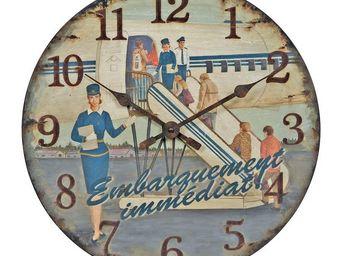 Interior's - horloge embarquement imm�diat - Horloge Murale