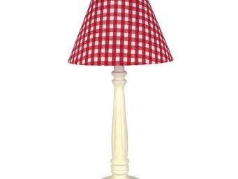 Interior's - lampe vichy rouge - Lampe À Poser