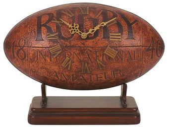 Interior's - horloge ballon de rugby - Horloge À Poser