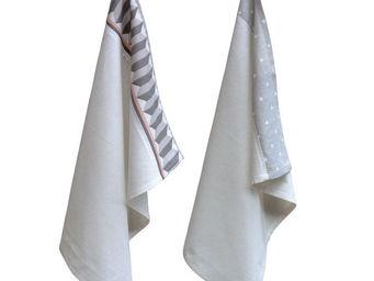 Interior's - torchon blanc pois & compagnie - Torchon