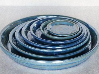 Les Poteries Clair de Terre - aigue marine - Dessous De Pot De Jardin