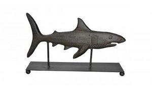 Demeure et Jardin - poisson trophée a poser en fonte - Sculpture Animalière