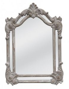 Demeure et Jardin - miroir pare close gris clair - Miroir