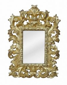 Demeure et Jardin - petite glace baroque dorée - Miroir