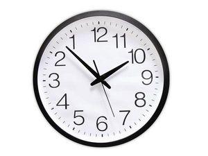 WHITE LABEL - l'horloge aux chiffres inversés deco maison desig - Horloge Murale