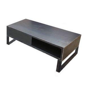 Mathi Design - meuble tv steel 120 - Meuble Tv Hi Fi