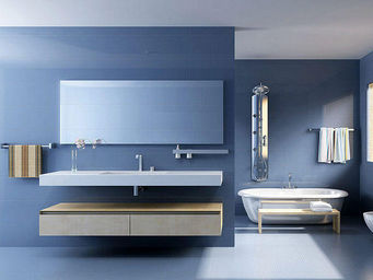 UsiRama.com - meuble salle de bain spension 120cm - Meuble De Salle De Bains