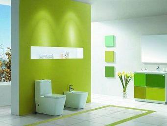 UsiRama.com - meuble salle de bain 1m design contemporain herbe - Meuble De Salle De Bains