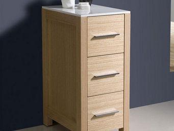 UsiRama.com - colonne design 79cm en couleur bois claire - Meuble De Salle De Bains