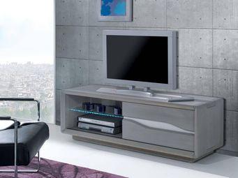 Ateliers De Langres - ceram - grand meuble tv 1 porte - Meuble Tv Hi Fi