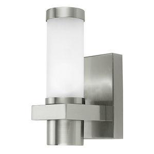 Eglo - konya - applique d'extérieur verre & inox   lumin - Applique