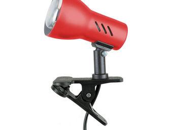 Spotlight - clamspot - lampe à pince rouge et noir h16cm | app - Spot À Pince