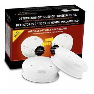CFP SECURITE - kit de 2 détecteurs de fumée communiquant - Alarme Détecteur De Fumée