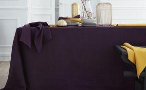 BLANC CERISE - delices de lin prune  - Nappe Rectangulaire