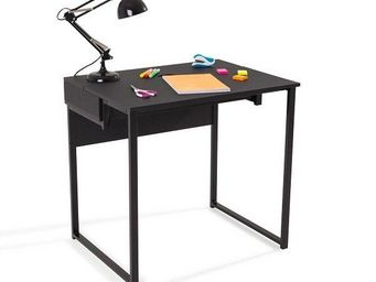 WHITE LABEL - bureau worky1 design noir - Bureau