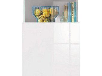 WHITE LABEL - vitrine design treviso blanche - Buffet Haut
