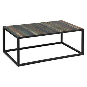 WHITE LABEL - table basse recover en bois recyclés - Table Basse Rectangulaire